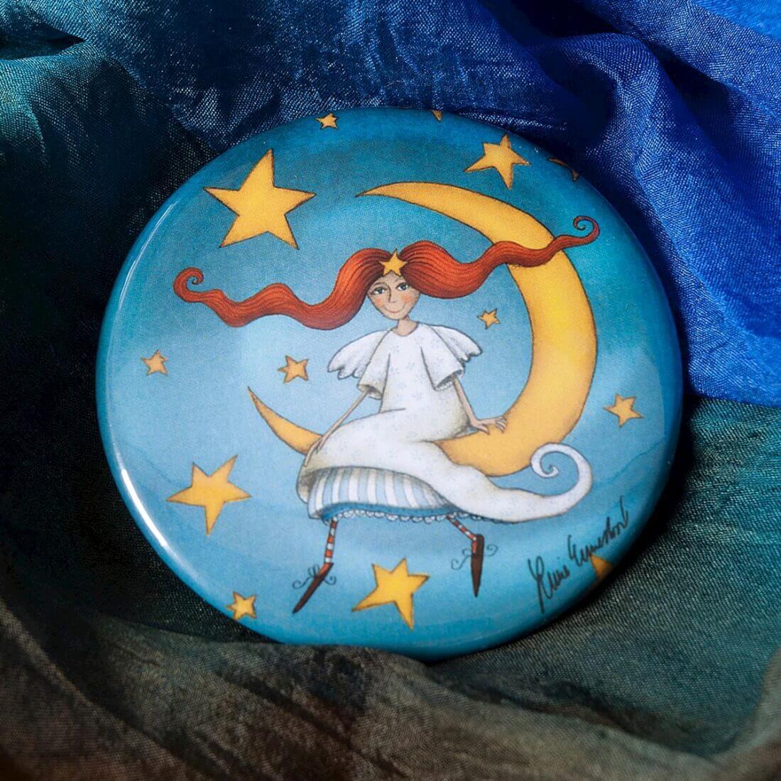 Magnet Andělka na měsíci