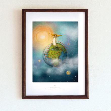 obrázek Bůh - A4-rámeček