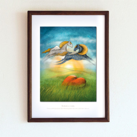 obrázek Svoboda ve vztahu - A4-rámeček
