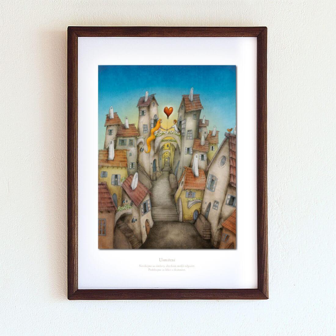 obrázek Usmíření - A4-rámeček
