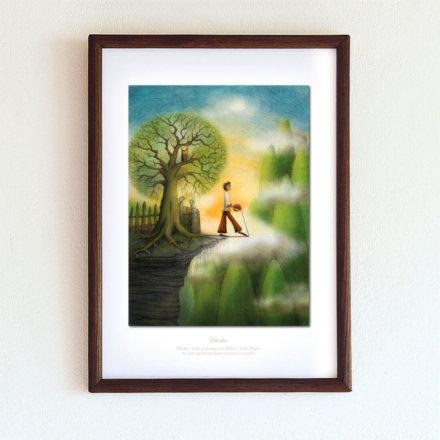 obrázek Odvaha - A4-rámeček
