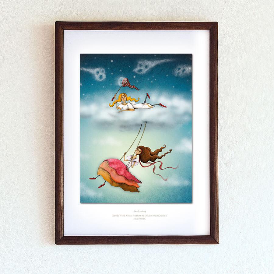 Obrázek Anděl strážný A4 rámeček