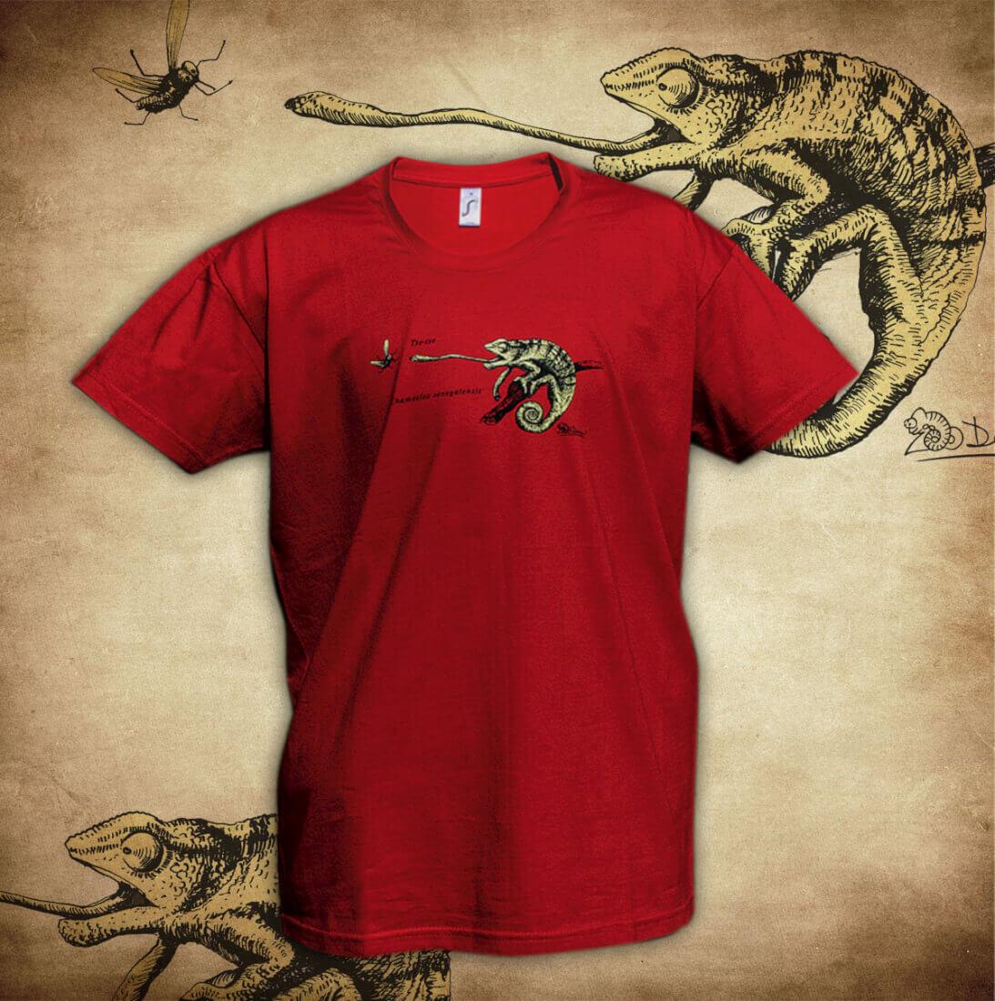 Tričko Chameleon - červená