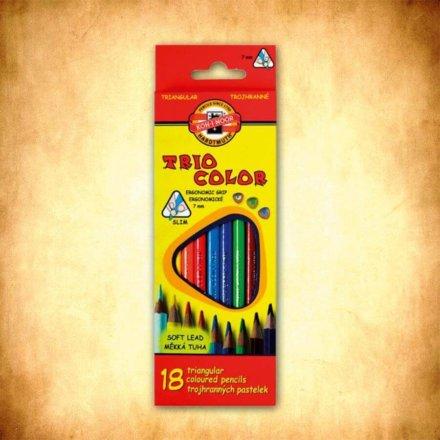 pastelky Triocolor 18