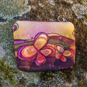 peněženka motýly