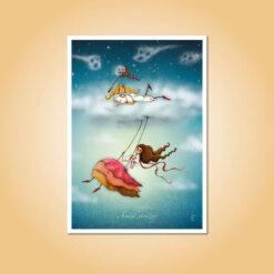 pohlednice Anděl strážný