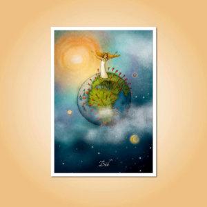 pohlednice Bůh