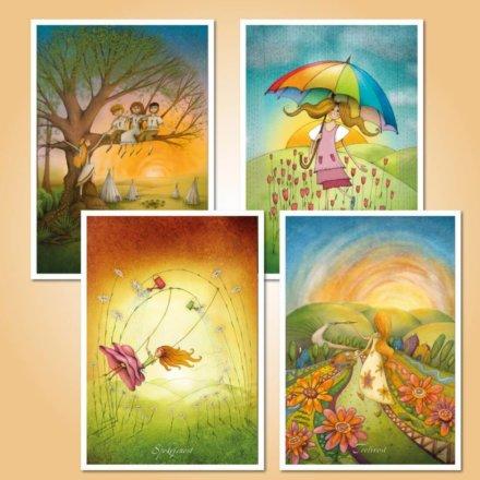 Táborové pohlednice sada pro holky