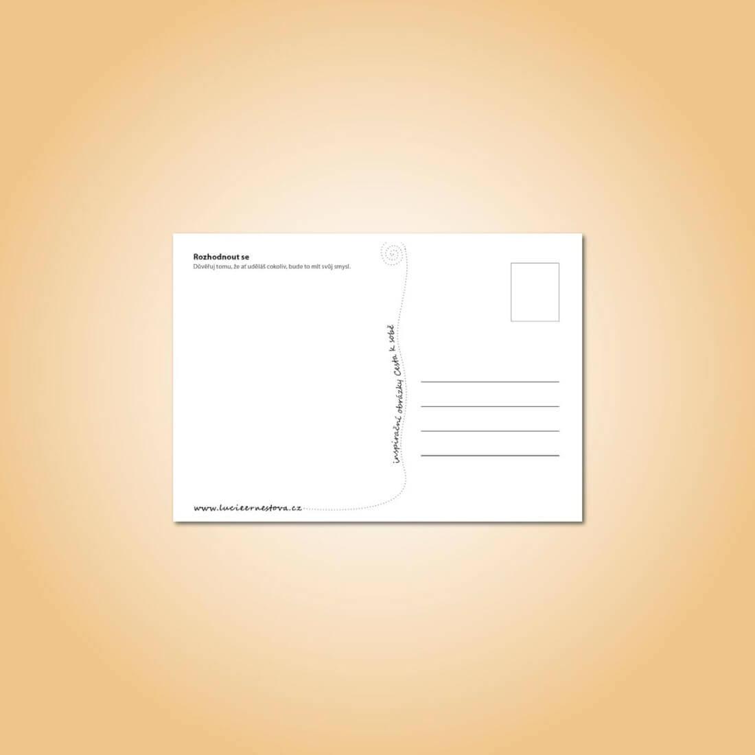 Táborové pohlednice - sada, rub