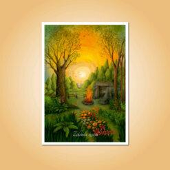 pohlednice Zahrada života