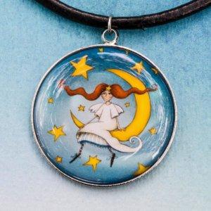 Přívěšek Andělka na měsíci