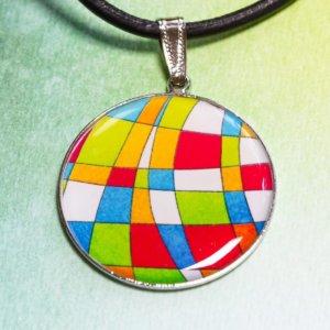 Přívěšek Barevná mozaika