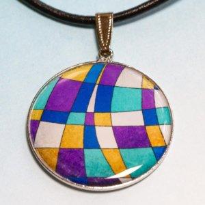 Přívěšek Fialová mozaika