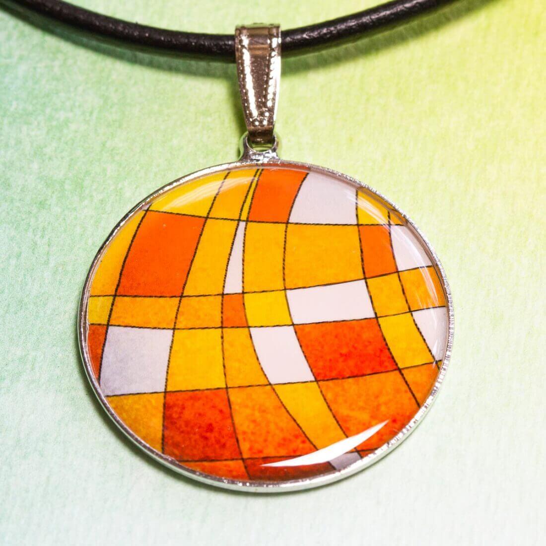 Přívěšek Oranžová mozaika