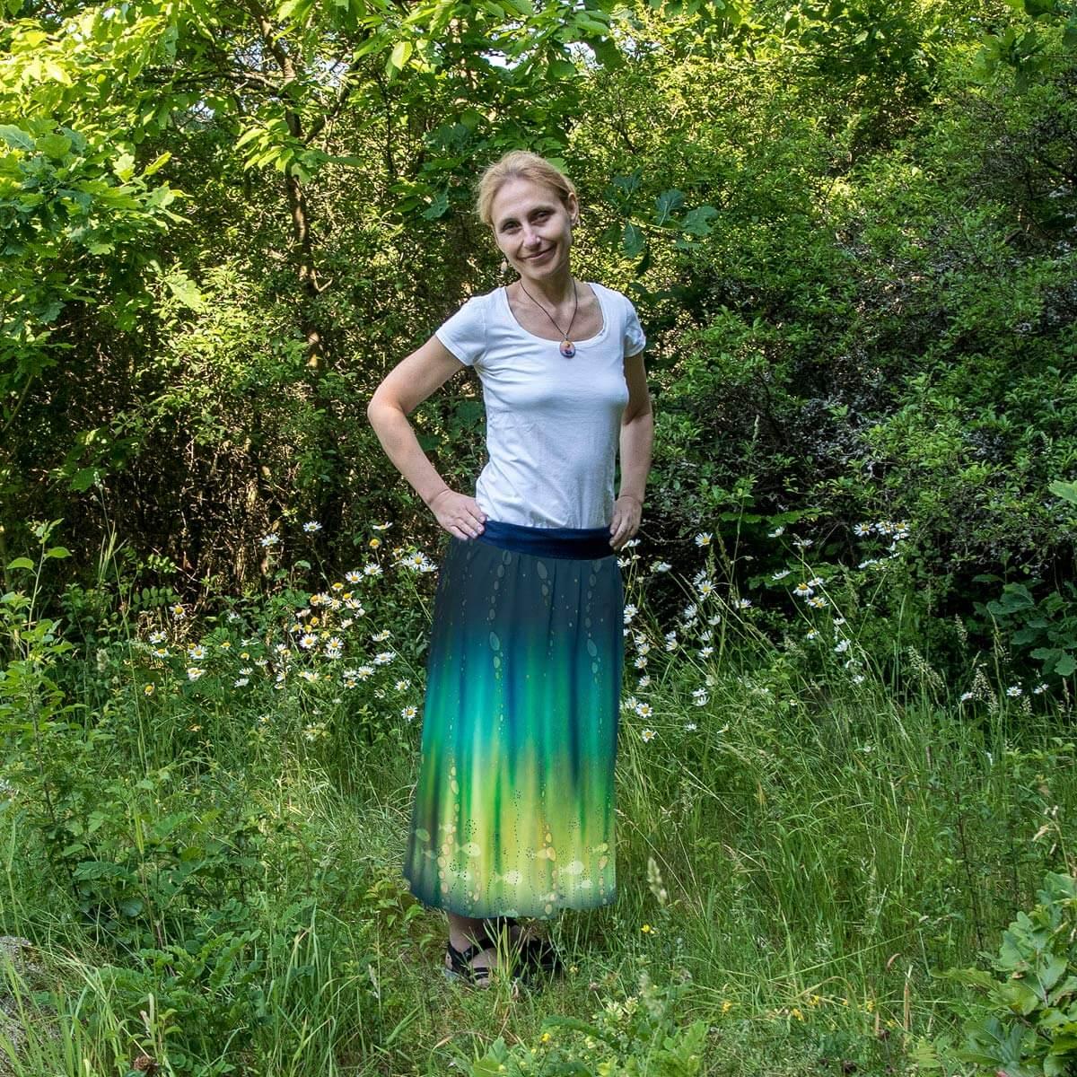 Sukně Hlubina - dlouhá