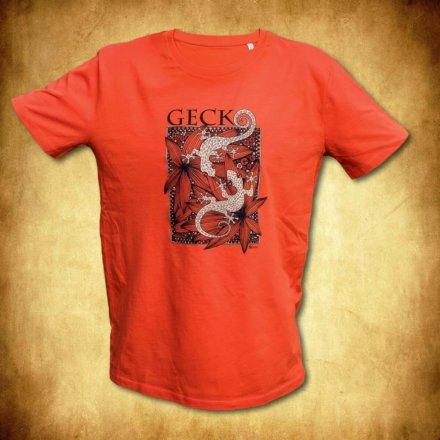tričko Gekoni - oranžové