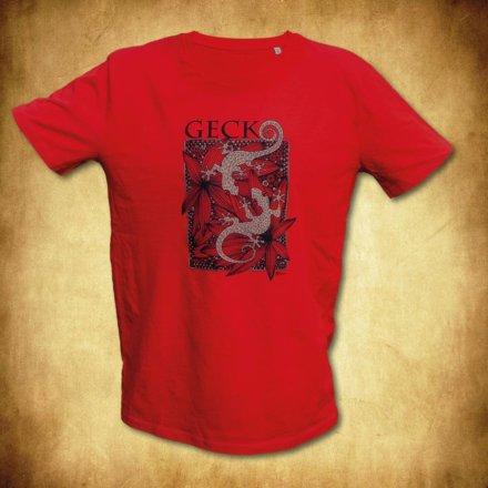 tričko gekoni červené
