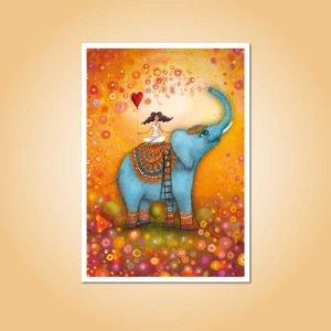 pohlednice Slon