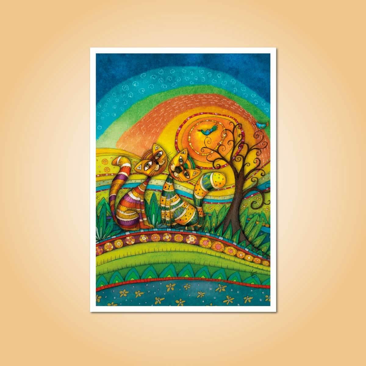 pohlednice Sluneční kočky