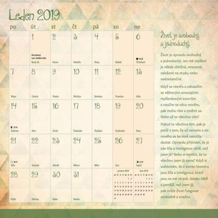 Kalendář Miluj svůj život 2019