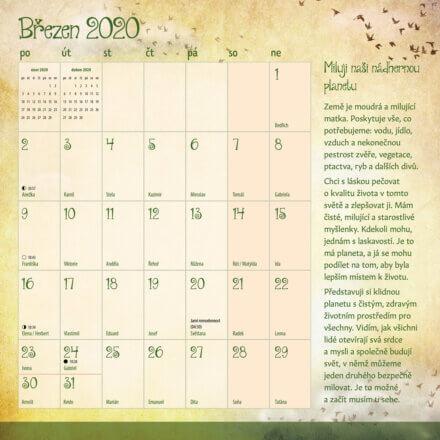 kalendar Miluj svůj život 2020