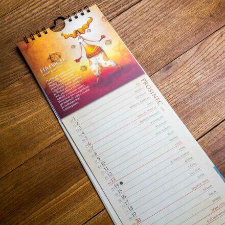 kalendář 2020 - Kravata