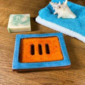 Mýdlenka oranžovo - modrá